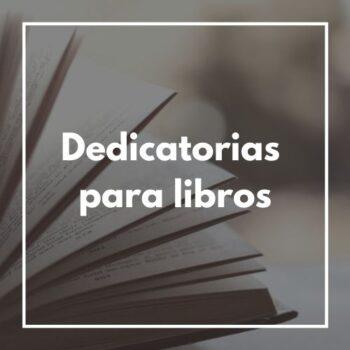 dedicatorias para libros