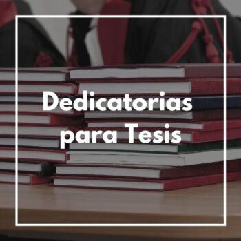 dedicatorias para tesis